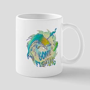 Gone Fishing 3 11 oz Ceramic Mug