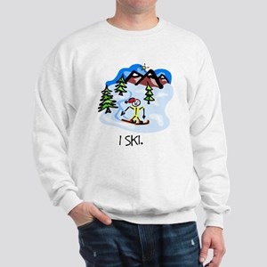 I Ski Stick Figure Sweatshirt