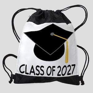 Class of 2027 school Drawstring Bag