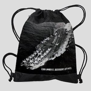 jfk cv calendar Drawstring Bag