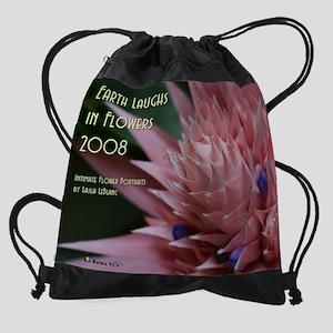 3-BromeliadPinkCalendarCoverwLogo.j Drawstring Bag