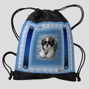 Bert_poster_puppylove Drawstring Bag
