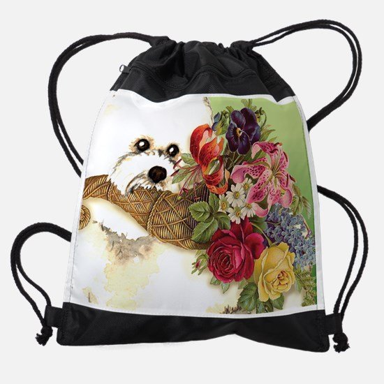 bichon cal5c.png Drawstring Bag