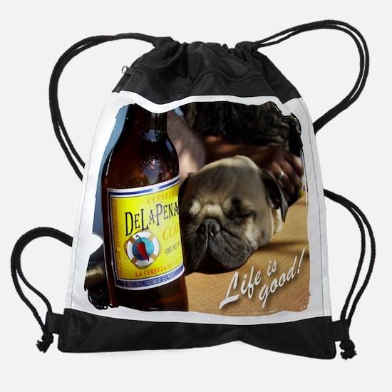 ANYA life is good Delapena.png Drawstring Bag