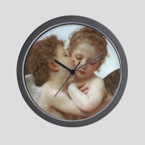 Baby Angels Kiss Bouguereau Painting Wall Clock