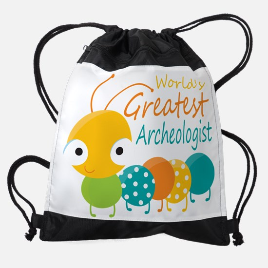 World's Greatest Archaeologist Drawstring Bag