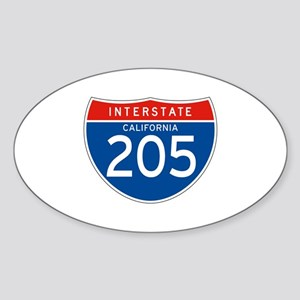 Interstate 205 - CA Oval Sticker