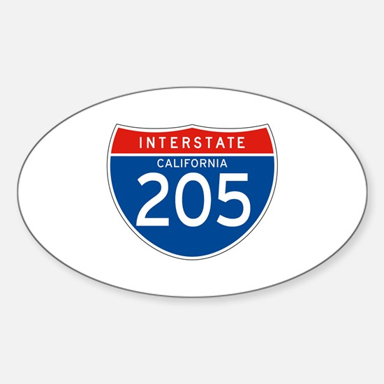 Interstate 205 - CA Oval Decal