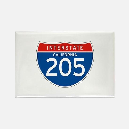 Interstate 205 - CA Rectangle Magnet