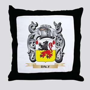 Daly Coat of Arms - Family Crest Throw Pillow