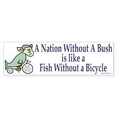 Nation Without Bush Bumper Bumper Sticker