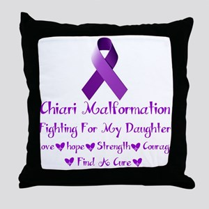 fighting for my daughter Throw Pillow