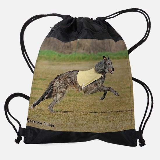 Scottish Deerhound.jpg Drawstring Bag