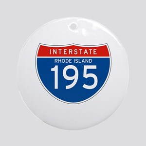 Interstate 195 - RI Ornament (Round)