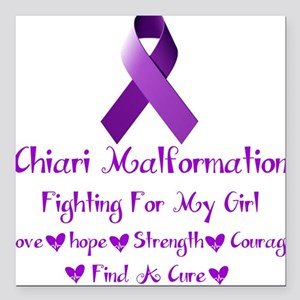 """Fighting for my girl Square Car Magnet 3"""" x 3"""""""