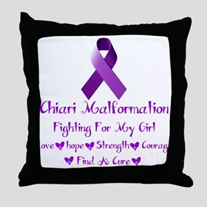 Fighting for my girl Throw Pillow