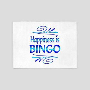 Happiness is Bingo 5'x7'Area Rug