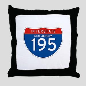Interstate 195 - NJ Throw Pillow