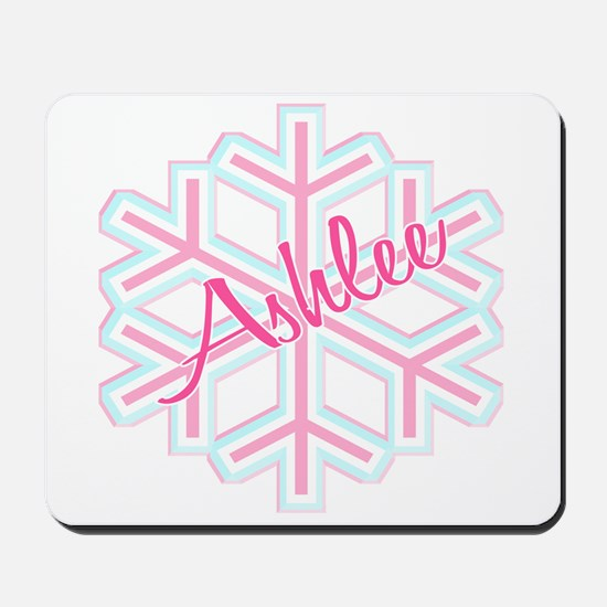 Ashlee Snowflake Personalized Mousepad