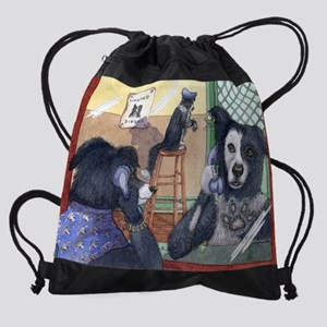 bad dog Drawstring Bag
