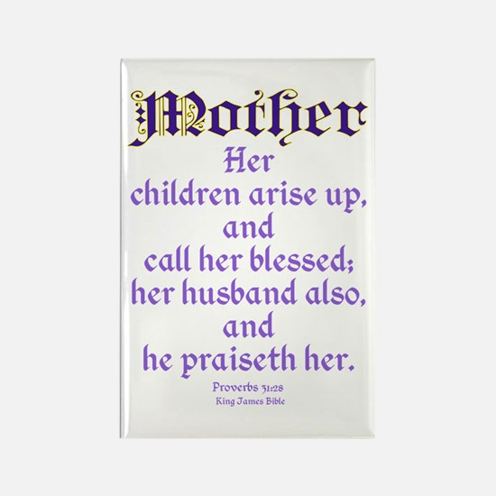 Mothers Day Bible Quote Rectangle Magnet