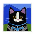 Native American Tuxedo CAT Tile/Coaster