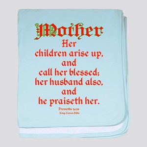 Bible Passage for Mothers baby blanket