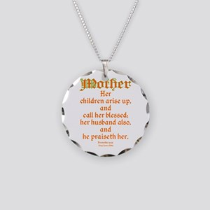 Bible Passage for Mothers Necklace Circle Charm
