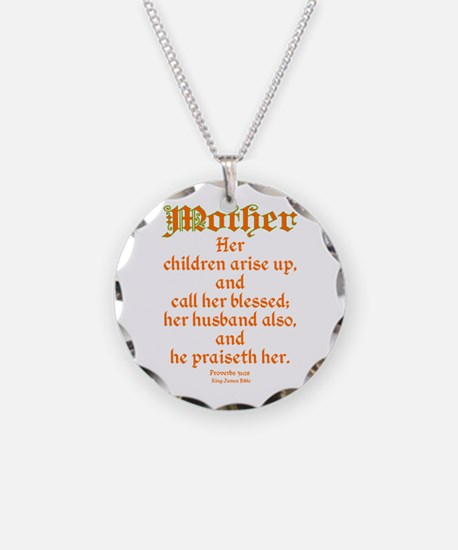 Bible Passage for Mothers Necklace