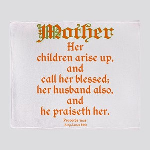 Bible Passage for Mothers Throw Blanket