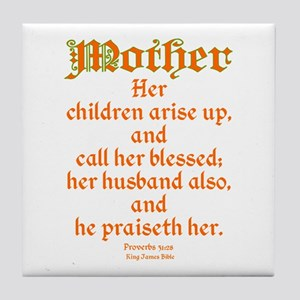 Bible Passage for Mothers Tile Coaster