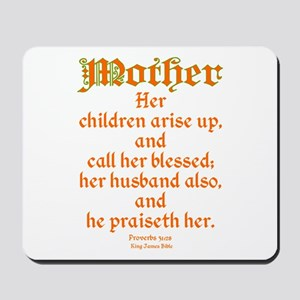 Bible Passage for Mothers Mousepad