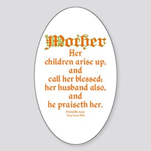 Bible Passage for Mothers Sticker (Oval)