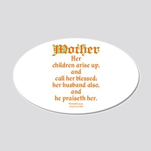 Bible Passage for Mothers 20x12 Oval Wall Decal