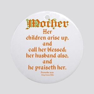Bible Passage for Mothers Ornament (Round)