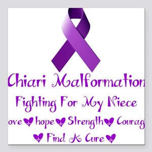 """Fighting For my Niece Square Car Magnet 3"""" x 3"""""""