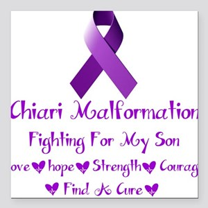 """Fighting For My Son Square Car Magnet 3"""" x 3"""""""