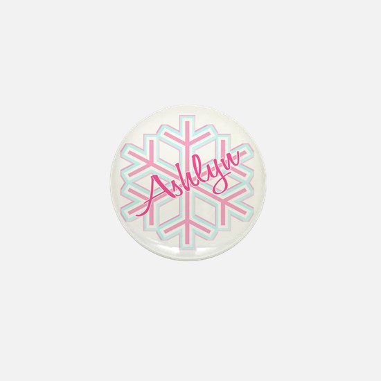 Ashlyn Snowflake Personalized Mini Button