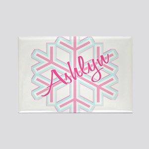 Ashlyn Snowflake Personalized Rectangle Magnet