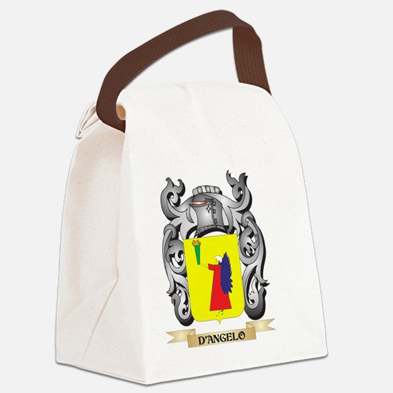 D'Angelo Coat of Arms - Famil Canvas Lunch Bag