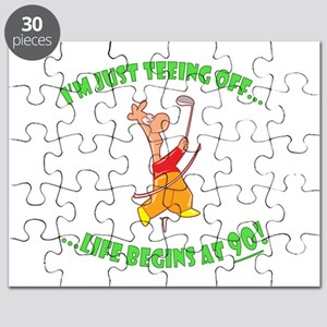 Teeing Off At 90 Puzzle