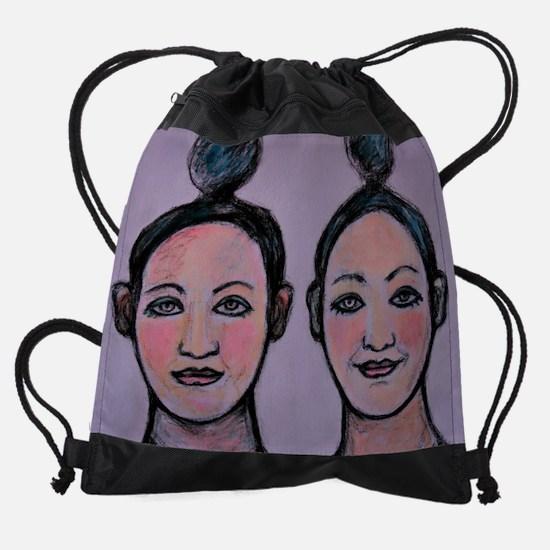 20 lilac circus.jpg Drawstring Bag