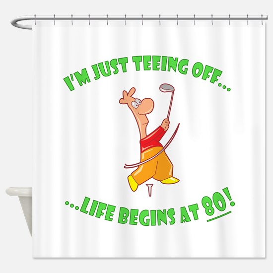 Teeing Off At 80 Shower Curtain