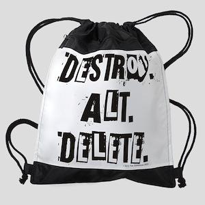 Destroy Alt Delete Drawstring Bag