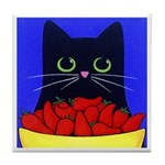 Black CAT Red Hot Chili Peppers Tile/Coaster
