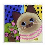 Siamese CAT City Kitty Tile/Coaster