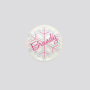 Brandy Snowflake Personalized Mini Button