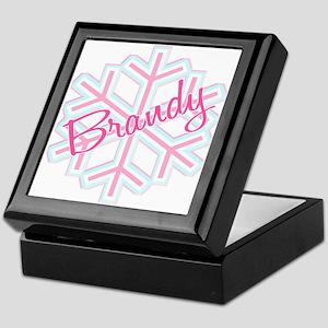 Brandy Snowflake Personalized Keepsake Box