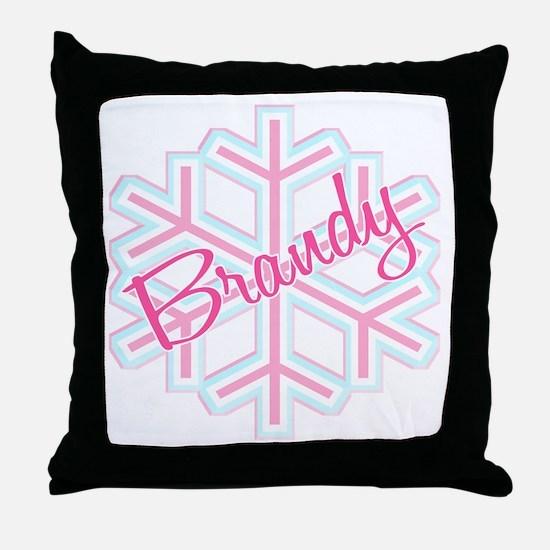 Brandy Snowflake Personalized Throw Pillow