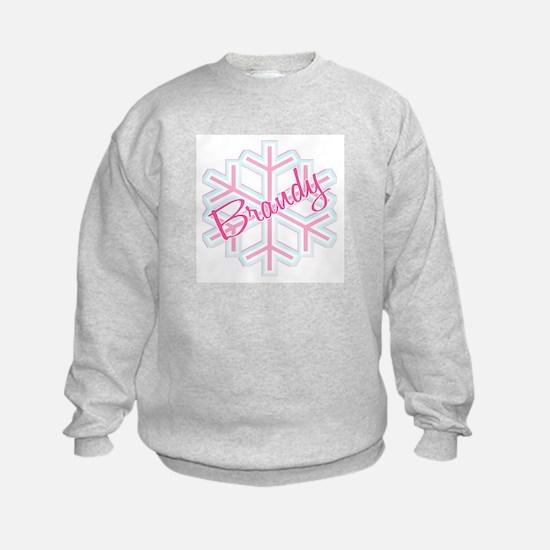 Brandy Snowflake Personalized Sweatshirt